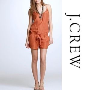J. Crew Factory Drapey Burnt Orange Romper Size L